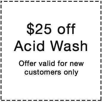 pool deals. $25 off an acid wash.